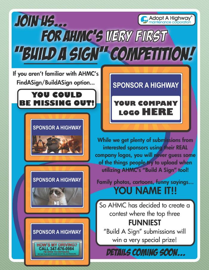 AHMC Build A Sign competition