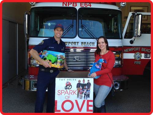 Donating toys to Fire station