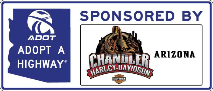 Chandler Harley-Davidson Sponsor A Highway Sign