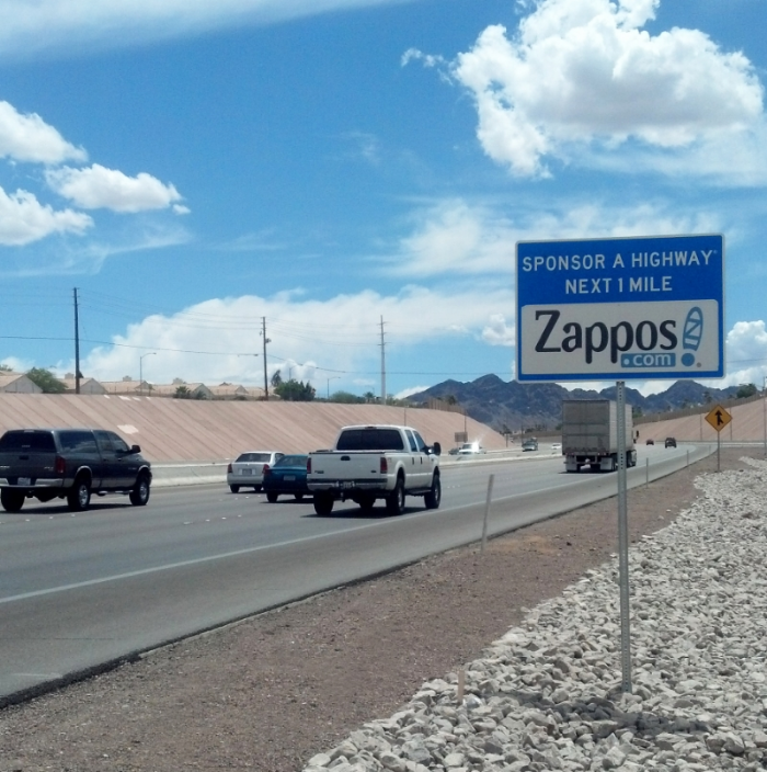 Zappos Sponsor A Highway sign