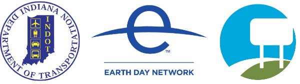 Indiana DOT, Earth Day Network, ahmc logos
