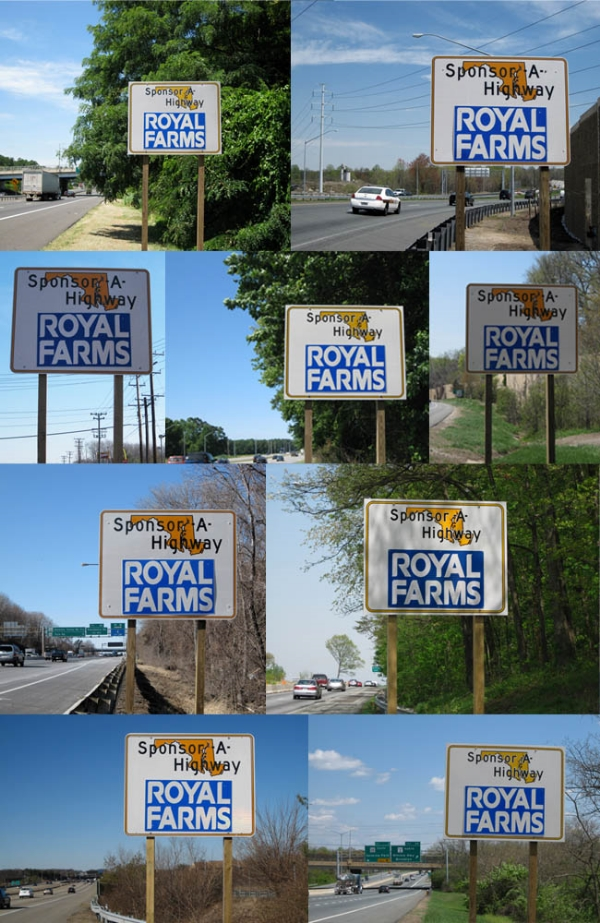 Royal Farms Sponsor A Highway sign