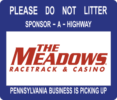 The Meadows Racetrack Sponsor A Highway sign