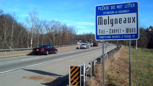 Molyneaux Sponsor A Highway sign