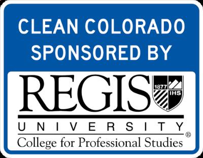 Regis University Sponsor A Highway sign