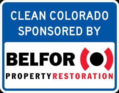 Belfor Property Restoration Sponsor A Highway sign