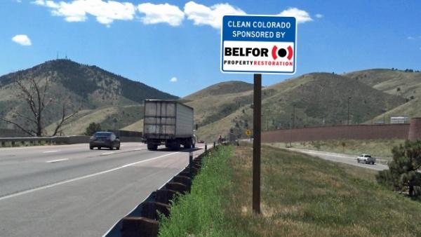 Belfor Property Restoration sign