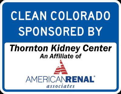 Thornton Kidney Center Sponsor A Highway sign