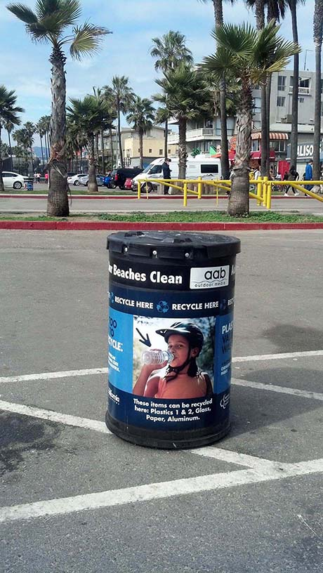 Adopt A Beach Recycle can
