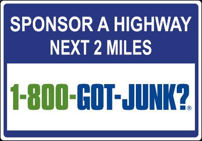 1-800-GOT-JUNK? sign