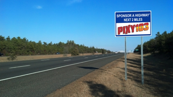 PIXY 103 Sponsor a Highway Sign