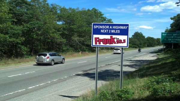 Frank fm 93.5 Sponsor A Highway sign