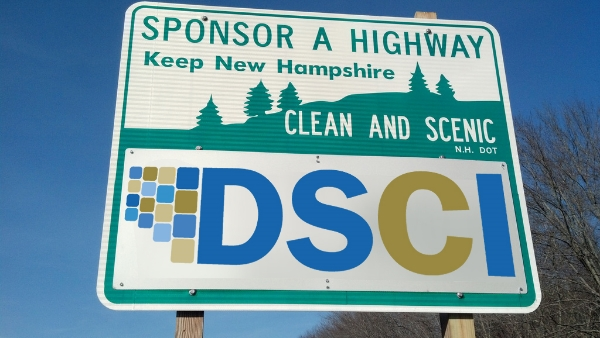 DSCI Sponsor A Highway sign