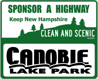 Canoble Lake Park Sponsor A Highway sign