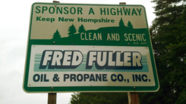 Fred Fuller Sponsor A Highway sign