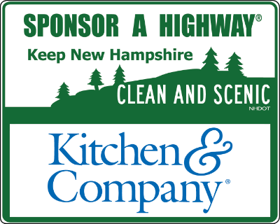 Kitchen & Company Sponsor A Highway sign