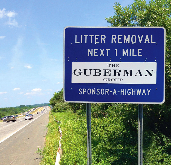 Gruberman Group Sponsor A Highway sign