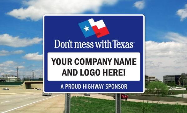 Texas Sponsor A Highway sign