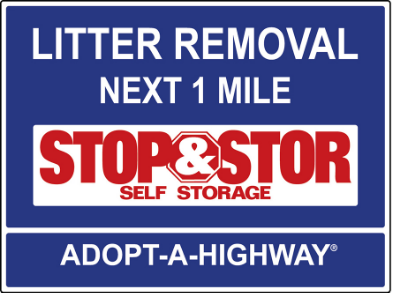 Stop & Stor sign