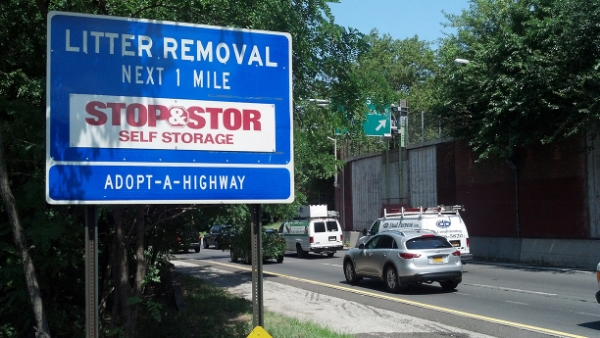Stop & Stor Adopt A Highway sign