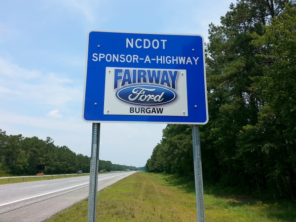 Fairway Ford Sponsor A Highway sign