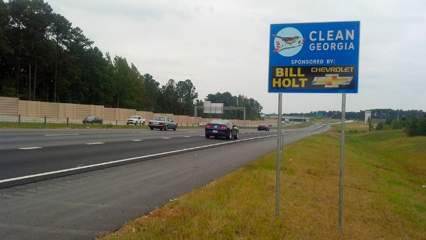 Bill Holt Chevrolet Sponsor A Highway sign