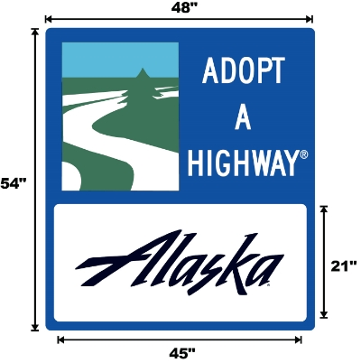 Alaska Adopt A Highway sign