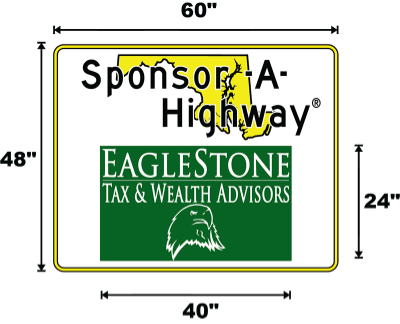 EagleStone Tax & Wealth Advisors Sponsor A Highway sign
