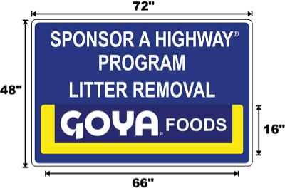 Goyo Sponsor A Highway sign