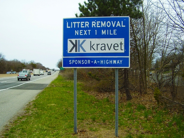 Kravet Sponsor A Highway sign