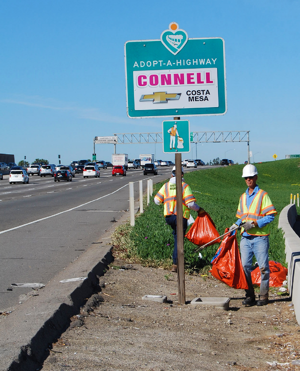 Connell Adopt A Highway sign