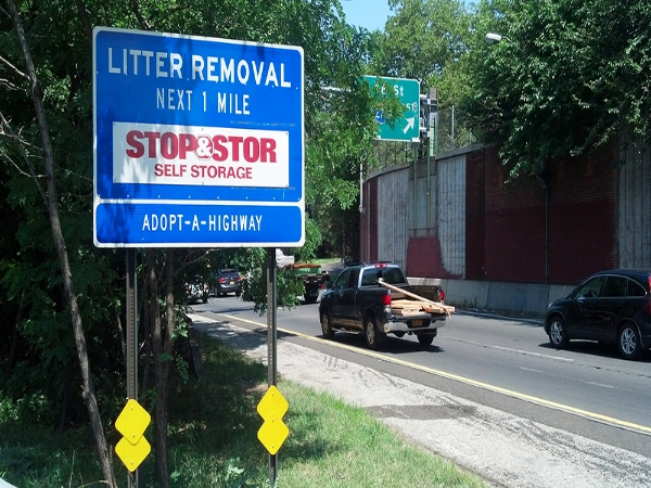 Stop&Stor Adopt A Highway sign