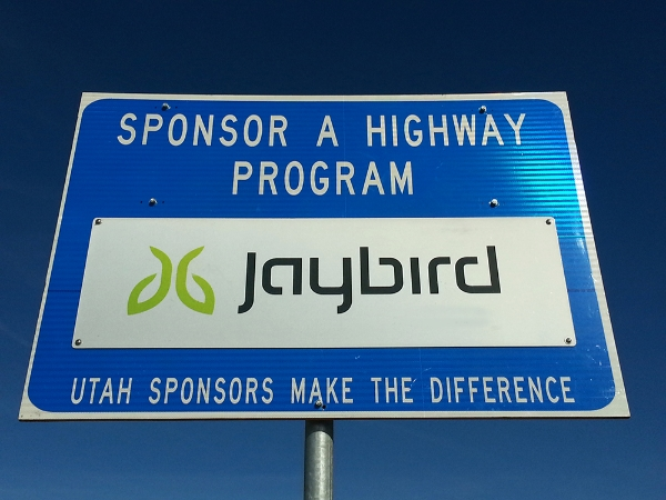 Jaybird Sponsor A Highway sign