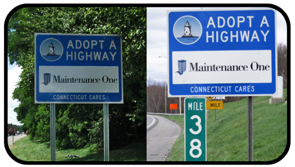 Maintenance One highway signs