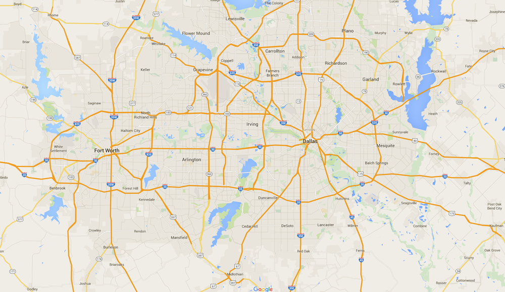 Dallas Fort Worth Market Map