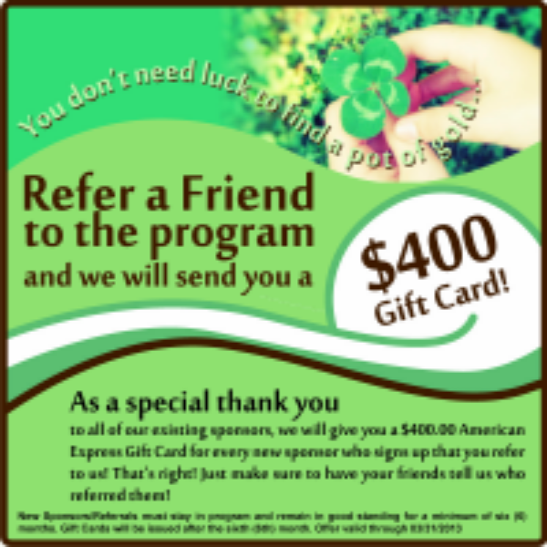 Refer a Friend Advertisement