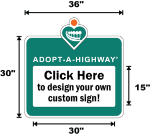 California Adopt A Highway / Sponsor A Highway Panel - Dimensions