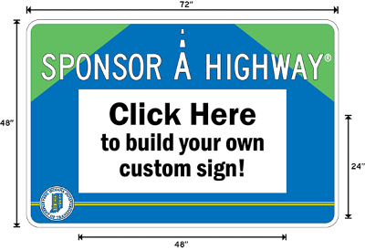 Indiana Adopt A Highway / Sponsor A Highway Panel - Dimensions