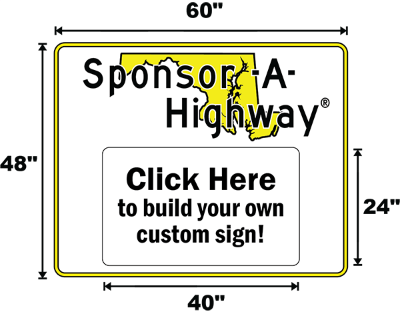 Maryland Adopt A Highway / Sponsor A Highway Panel - Dimensions