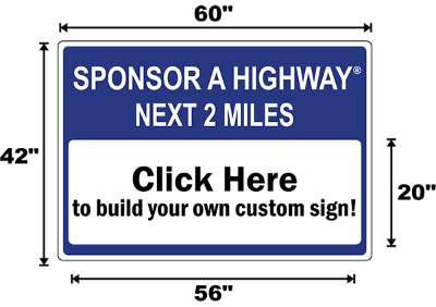 Massachusetts Adopt A Highway / Sponsor A Highway Panel - Dimensions