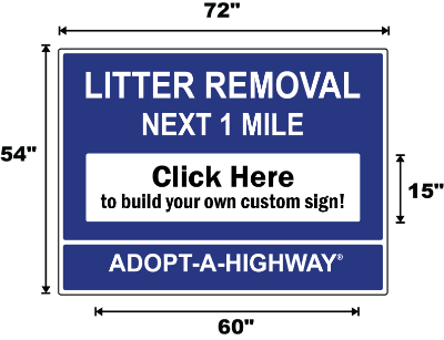 New York City Adopt A Highway / Sponsor A Highway Panel - Dimensions