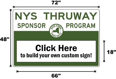 New York Thruway Adopt A Highway / Sponsor A Highway Panel - Dimensions