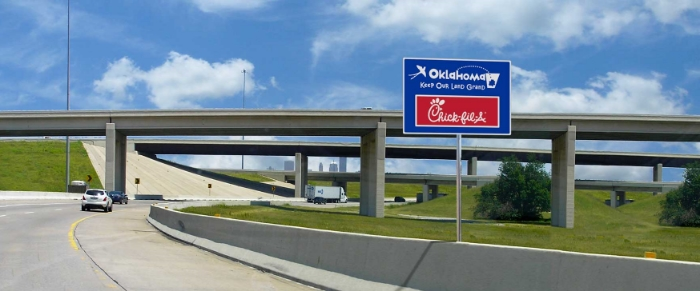 Oklahoma Chick Fil A Sign