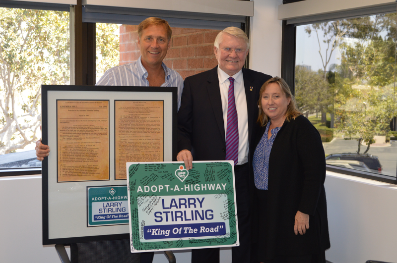 From left: Peter Morin (Owner), Senator Larry Stirling (Honored Guest), Patricia Nelson (President)