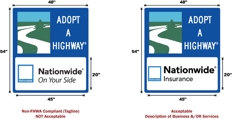 FHWA Compliance - Taglines vs. Descriptors