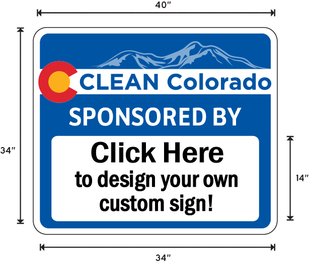 Colorado Adopt A Highway / Sponsor A Highway Panel - Dimensions