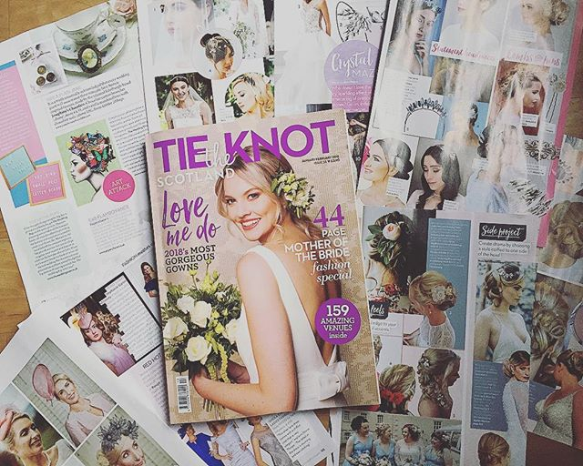 Bumper client coverage in @tietheknotscotland 💕 @stephaniegallenmillinery @pamperpolishbeautybridal @pollyandbella @weddingpopuk • • • #PR #BridalPR #Press #ClientPress #PressLove #PressHit #January #PR #BrandMarketing #Brands #BrandLove #PRWorks #PRGirl #LovePR #PressPlacement #GlasgowPR #EdinburghPR #LondonPR