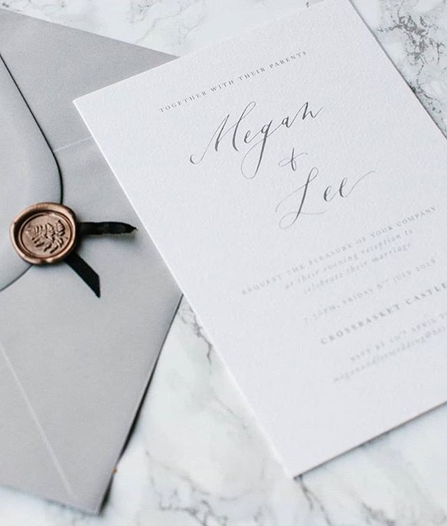 Grey perfection from @lauraelizabethpatrick ... dreamy 💕 • • • #PR #UKPR #PRLove #WeddingInvites #WeddingStationery #PRGirl #WeddingsInspo #WaxSeal #GreyInspo #Invitation #Dreamy #GlasgowPR #LondonPR #EdinburghPR #Brands #BrandMarketing