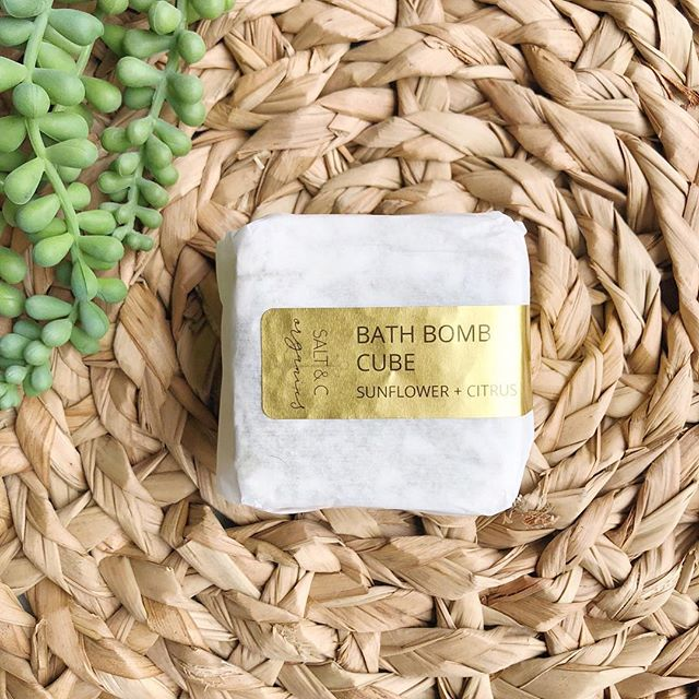 Our brand NEW non-toxic Bath Bombs Cubes aren't your typical bath bombs! Conventional bath bombs contain harsh chemicals, fragrances and dyes that cause hormone and endocrine disruption. 🙅🏻‍♀️ _____ Our cubes are completely free of dyes and fragrances and are made with food grade, high quality baking soda, non-GMO citric acid and certified organic herbs and essential oils. 🌿 _____ They provide a gentle, soothing herbal bath that leave skin feeling moisturized and softened. 🌿 _____ Each cube is large enough to be cute in half or into quarters to enjoy for up to four baths. Plus, this product is part of our #selflesscare line and every purchase directly supports the fight against sex trafficking through @aim_org.  _____ Our three herbal scents are on SALE now through Monday: Sunflower+Citrus, Lavender+Rose, Eucalyptus+Arnica 🌿