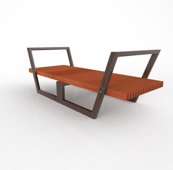 Bench Design and 3D Rendering